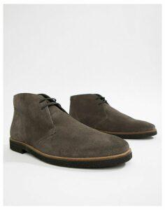WALK London Hornchurch chukka boots in grey suede