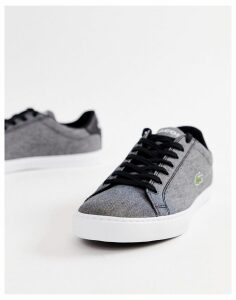 Lacoste vulcanised trainers in black