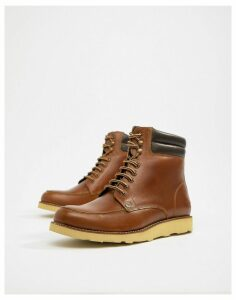 Original Penguin Leather Hiking Style Boots in Tan