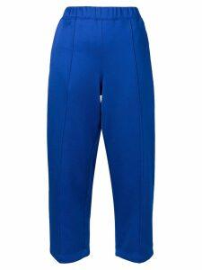 Comme Des Garçons Pre-Owned cropped tracksuit trousers - Blue