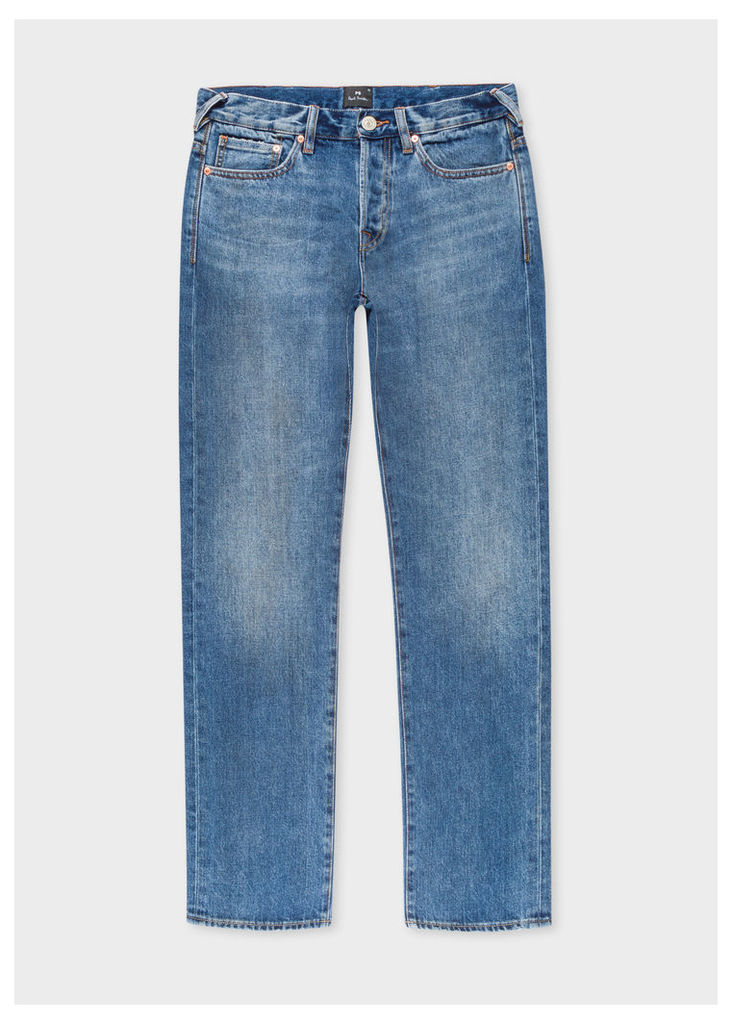 Men's Standard-Fit Antique-Wash 12.5oz 'Rigid Western Twill' Denim Jeans