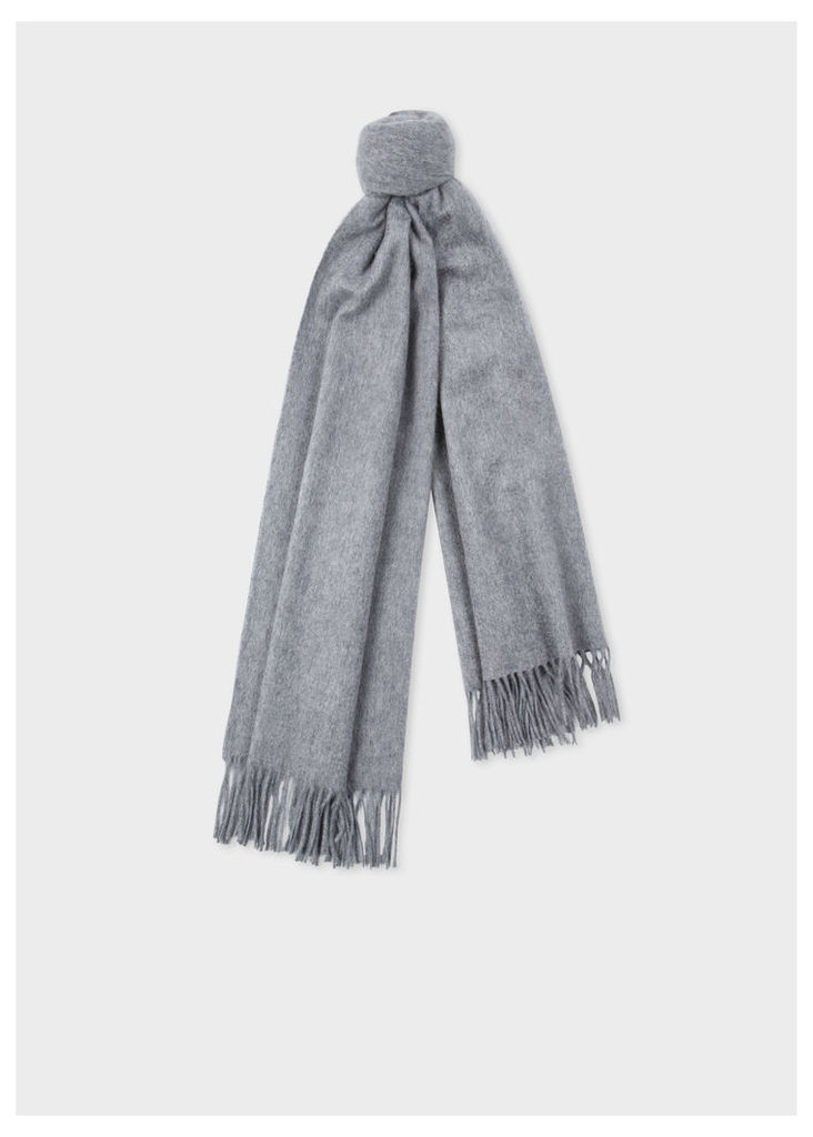 Grey Large Cashmere Scarf