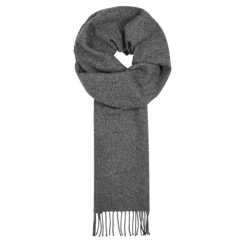 Norse Projects X Johnstons Grey Wool Scarf