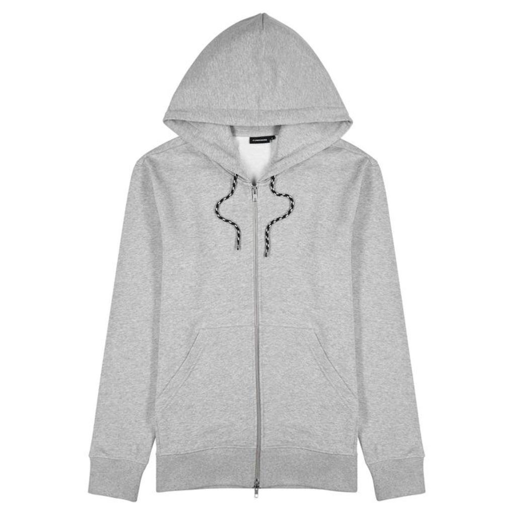 J.Lindeberg Grey Logo-print Cotton Sweatshirt