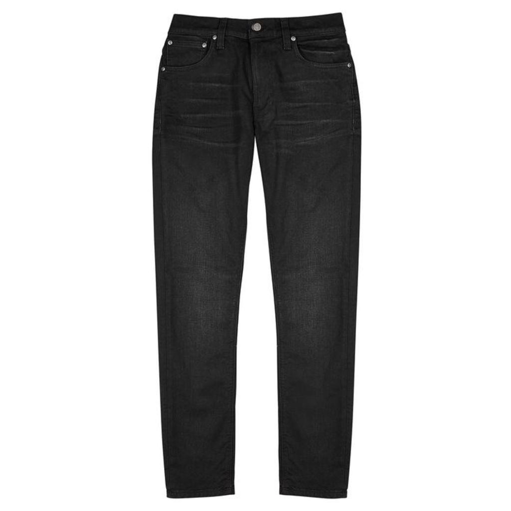 Nudie Jeans Lean Dean Black Slim-leg Jeans