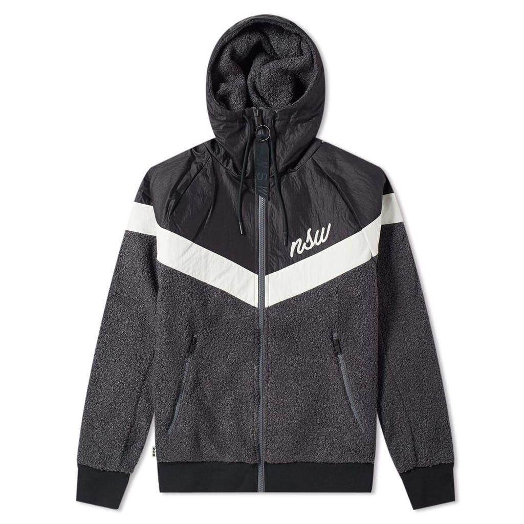 Nike Sherpa Wind Runner Black, Grey & White