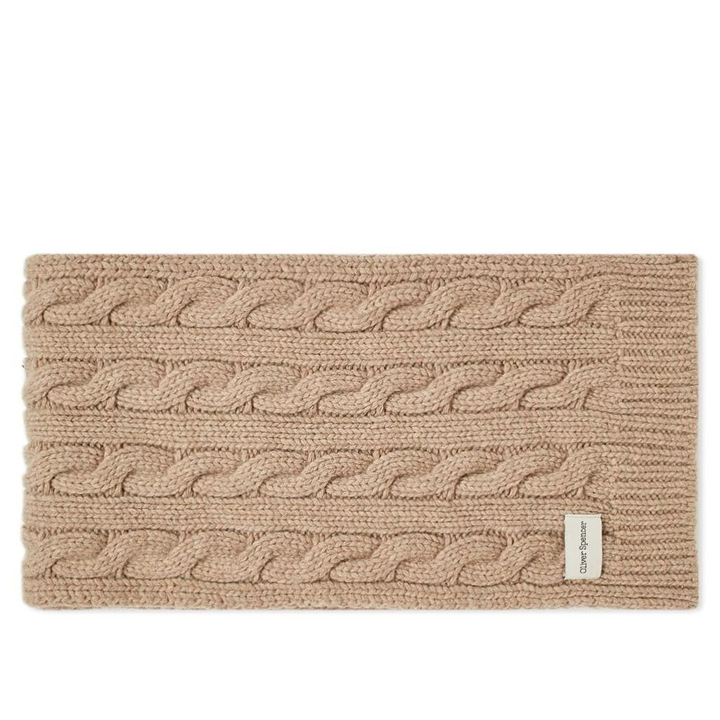 Oliver Spencer Arbury Scarf Cable Oatmeal