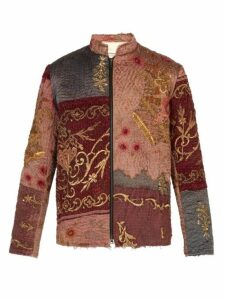 By Walid - Ecclesiastical 18th Century Silk Panel Jacket - Mens - Multi