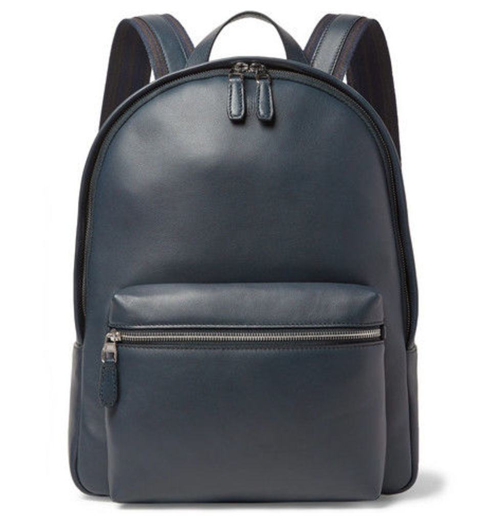 Dunhill - Hampstead Leather Backpack - Navy