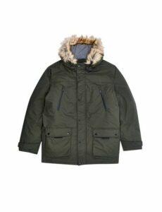 Mens Big & Tall Khaki Oak Parka Jacket, KHAKI