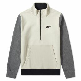 Nike Club Half Zip Sweat String & Charcoal Heather