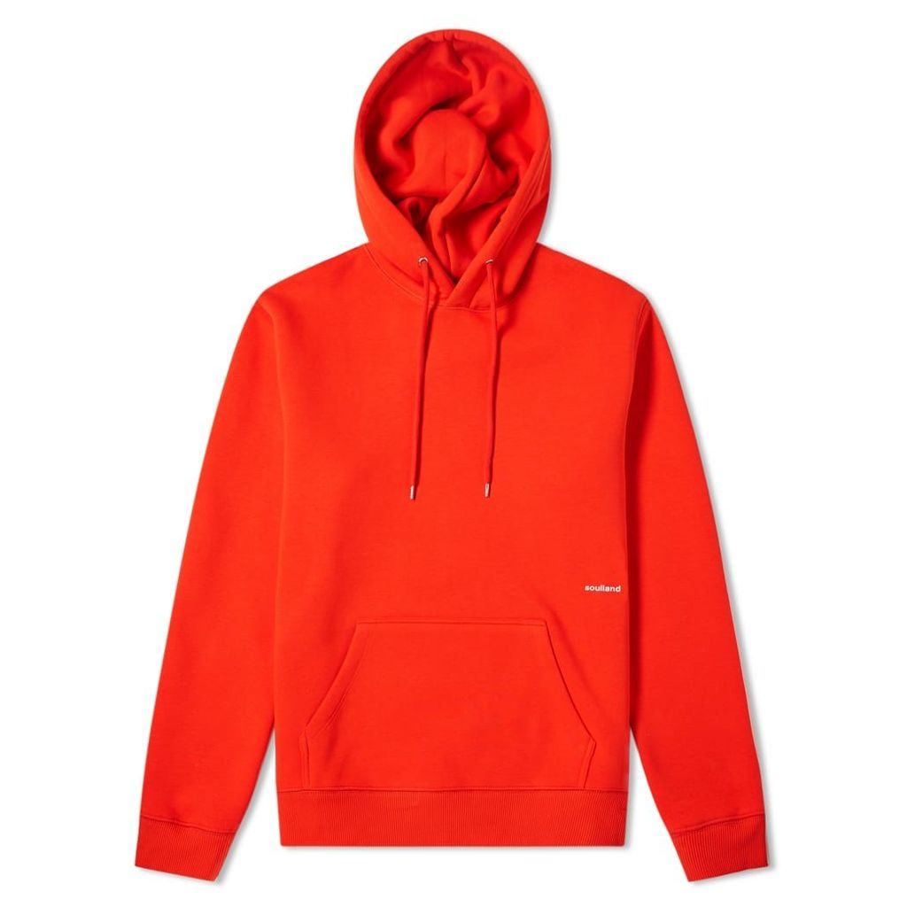 Soulland Logic Small Logo Hoody Red