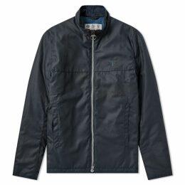 Barbour District Wax Jacket Navy