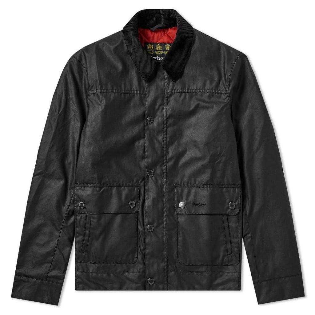 Barbour Kelvin Wax Jacket Black