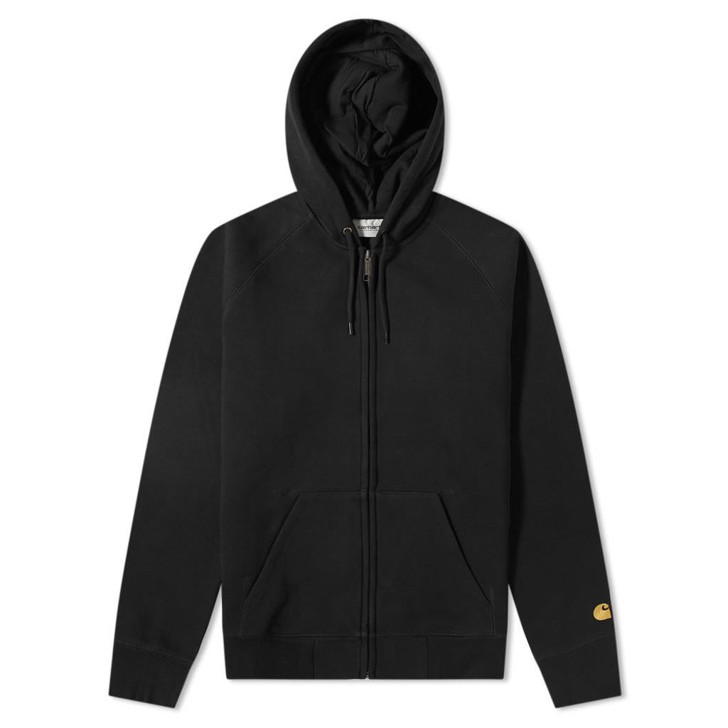 Carhartt Hooded Chase Jacket Black & Gold