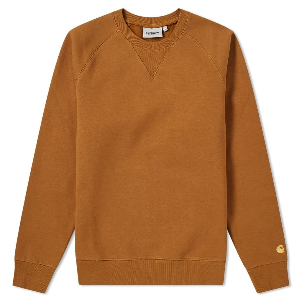 Carhartt Chase Sweat Hamilton Brown & Gold