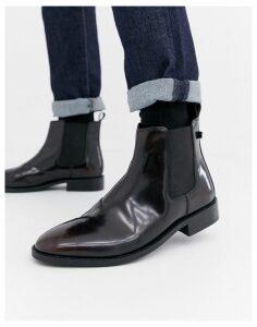 Farah Jeans High Shine Chelsea Boots