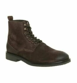 Office Imbrue Lace Boot CHOCOLATE SUEDE