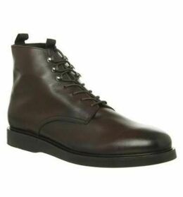 Hudson London Battle Lace Up Boot BROWN LEATHER