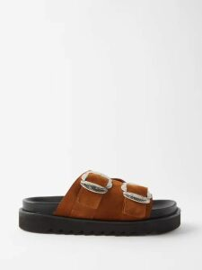 Etro - Cropped Linen Blend Trousers - Mens - Gold