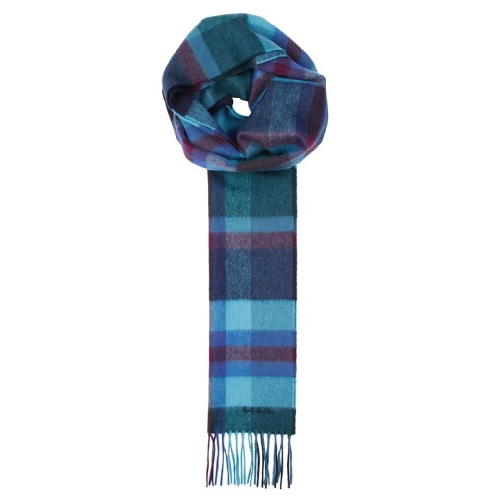 Paul Smith Checked Cashmere Scarf