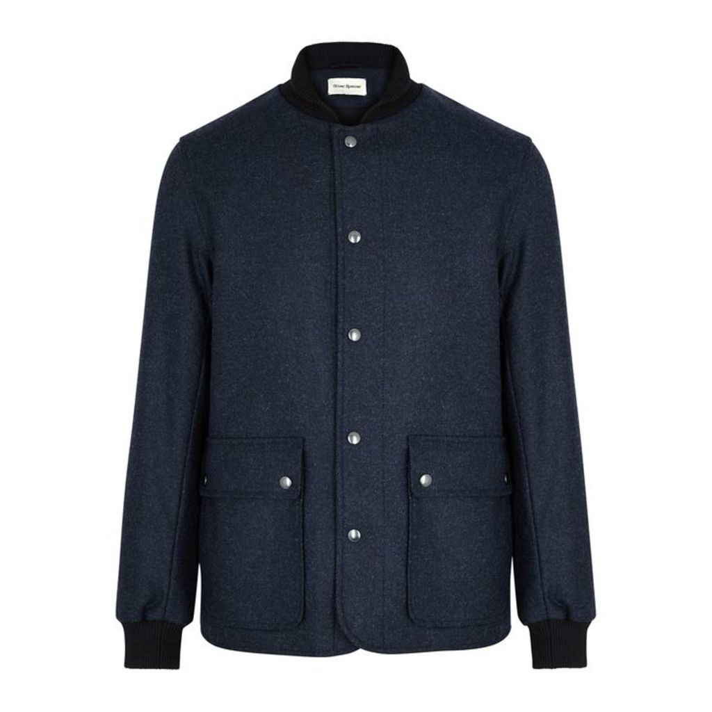 Oliver Spencer Berwick Navy Twill Jacket