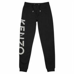 Kenzo Black Logo-print Cotton Sweatpants