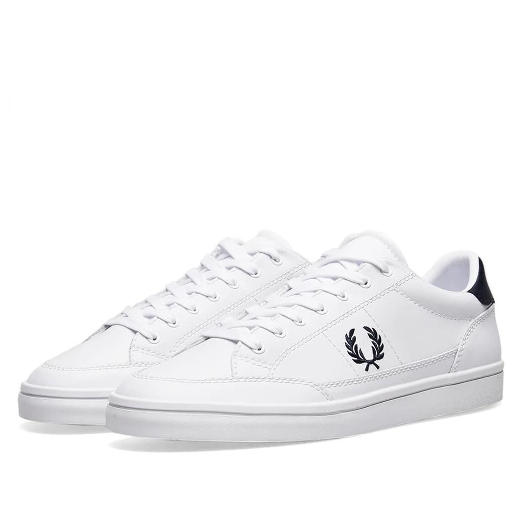 Fred Perry Deuce Leather Sneaker White & Navy