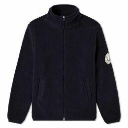 Fred Perry Borg Zip Through Fleece Jacket Navy