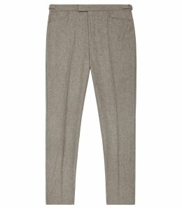 Reiss Hutton - Slim Fit Trousers in Oatmeal, Mens, Size 34