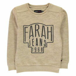 Farah Vintage Camo Fleece Crew Neck Sweater
