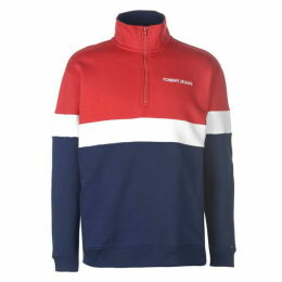 Tommy Jeans Retro  quarter  Zip Sweatshirt