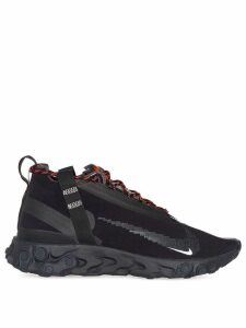 Nike black and red state emergency react sneakers