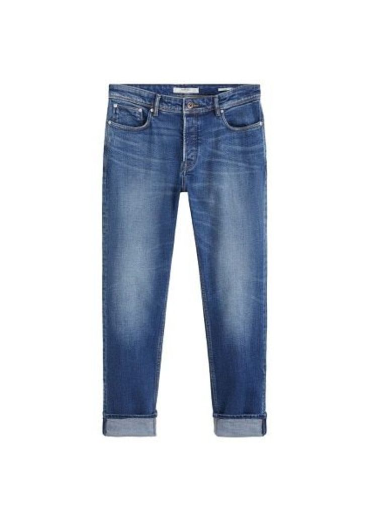 Slim-fit medium wash Tim jeans