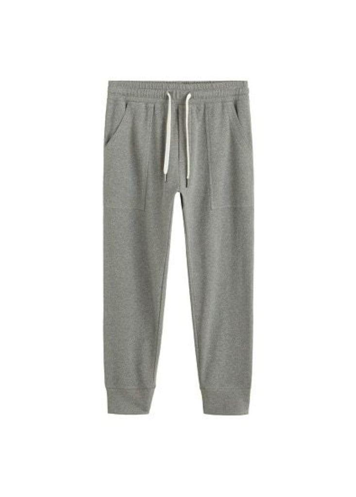 Elastic waist cotton jogger
