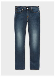 Men's Slim-Fit 'Blue/Black Reflex' Dark Wash Jeans