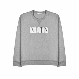Valentino VLTN-print Cotton-blend Sweatshirt