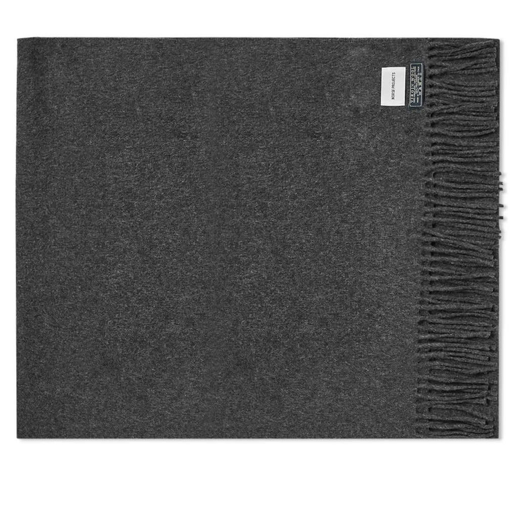 Norse Projects Silas Woven Scarf Charcoal Melange