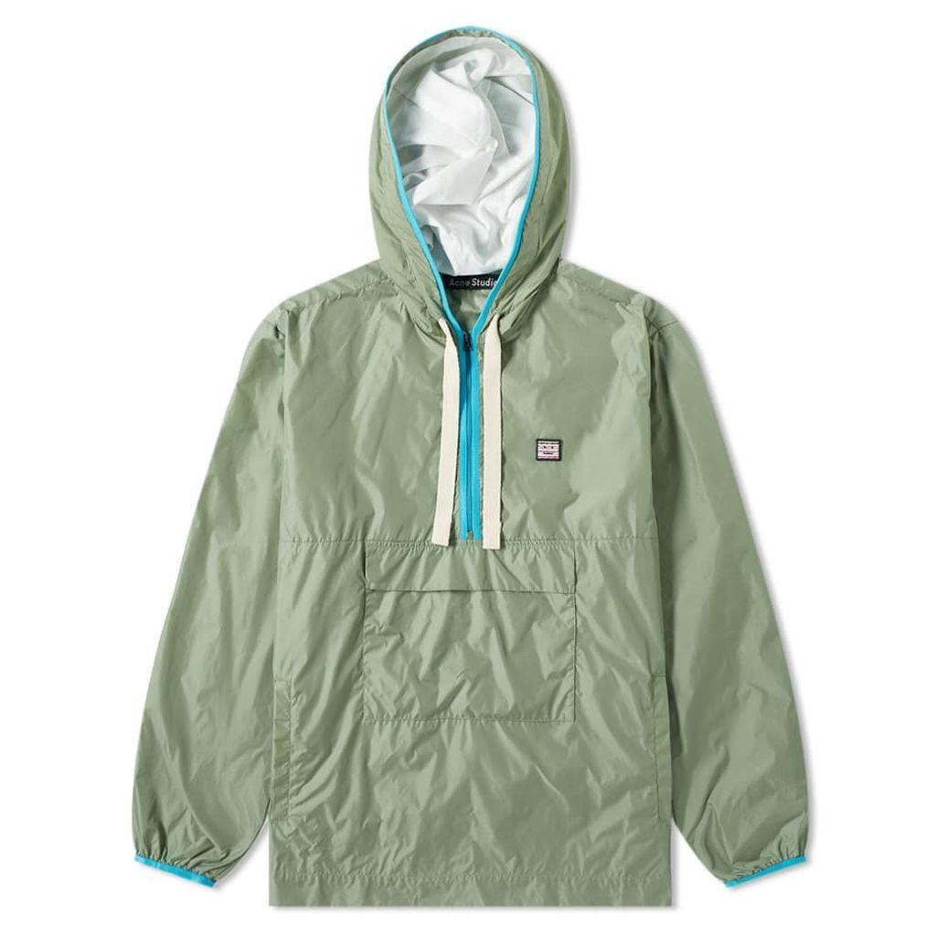 Acne Studios Osaze Half Zip Jacket Dusty Green