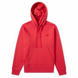 Acne Studios Ferris Face Hoody Cardinal Red