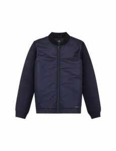 Mens Navy Bomber Jacket, Blue