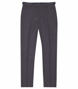 Reiss Hutton - Slim Fit Trousers in Airforce Blue, Mens, Size 38