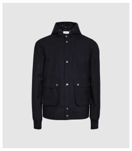 Reiss Bevan - Two-in-one Casual Jacket in Navy, Mens, Size XXL