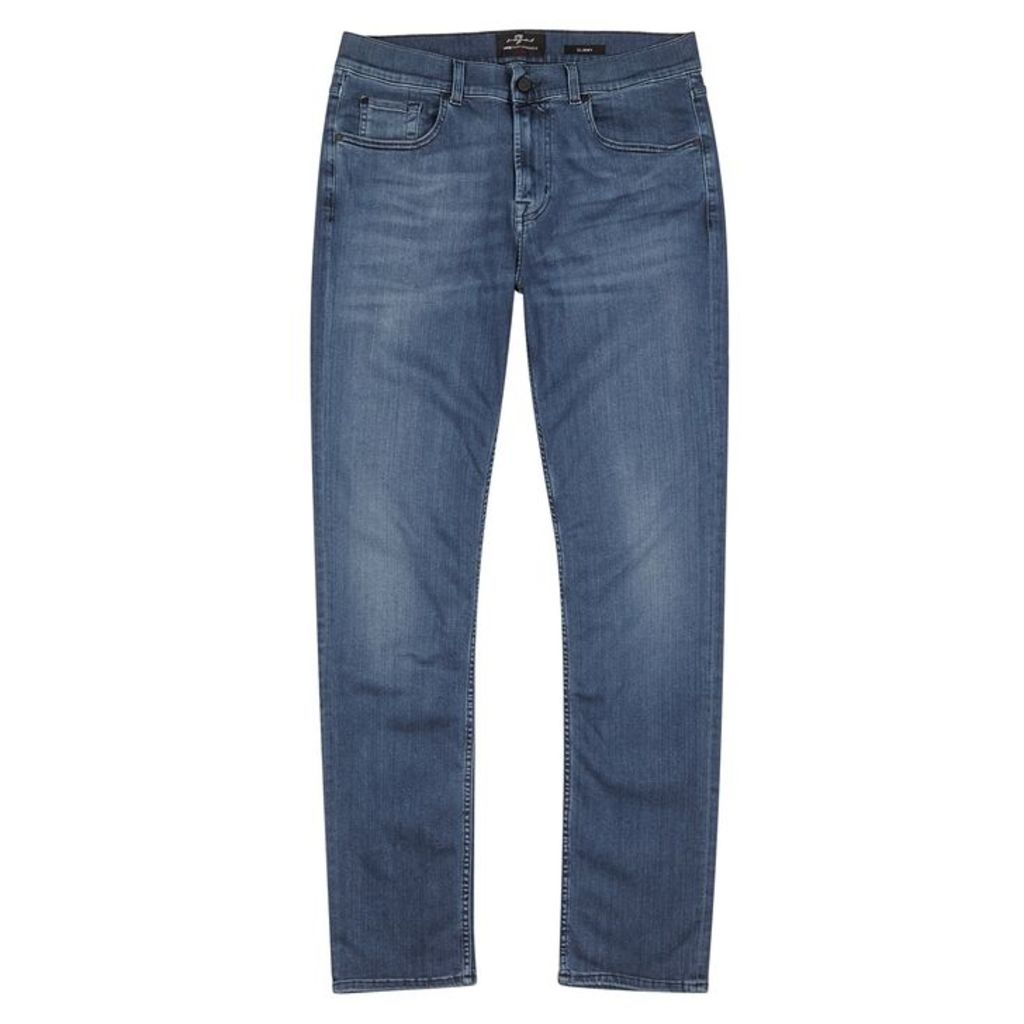 7 For All Mankind Slimmy Luxe Performance Plus Slim-leg Jeans