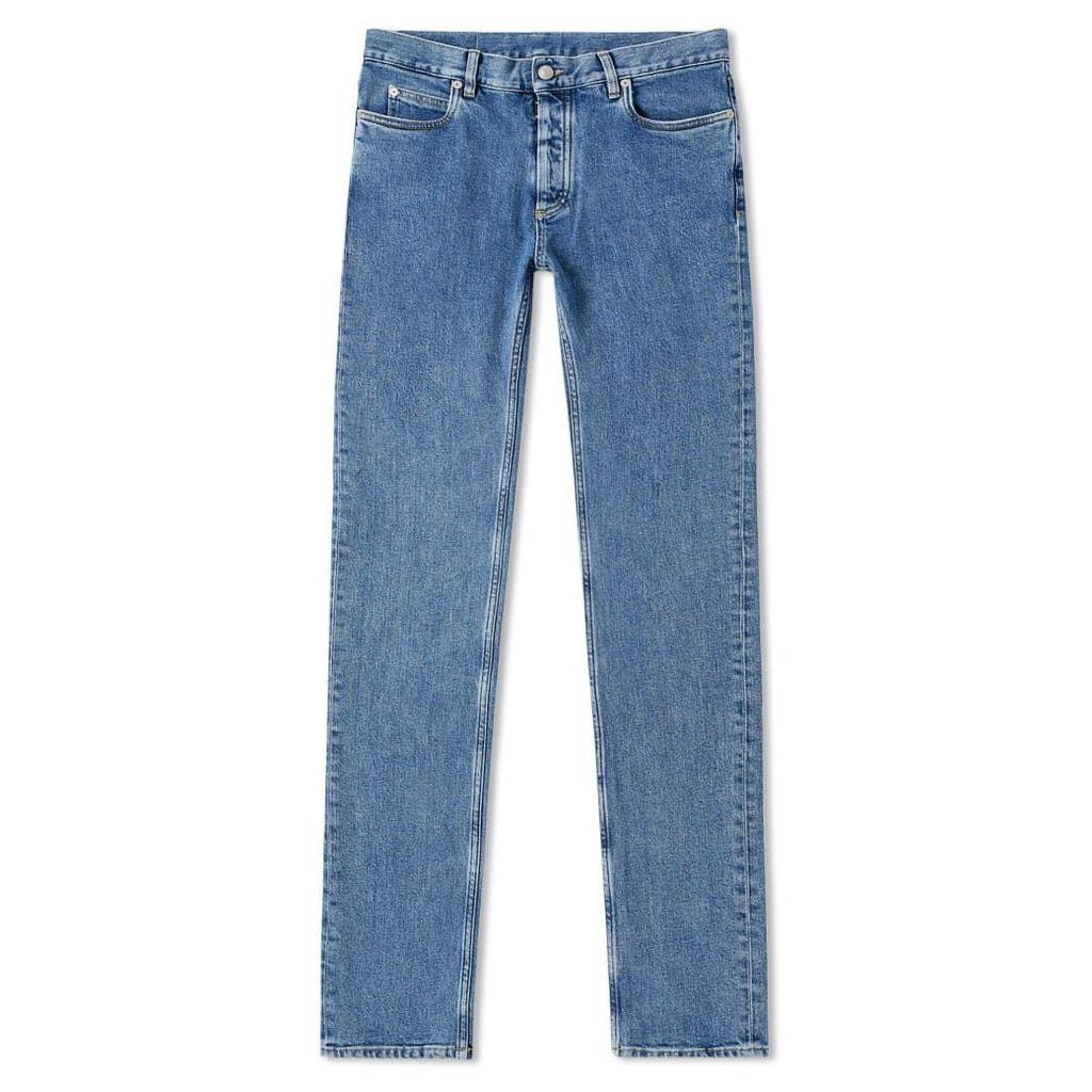 Maison Margiela 14 Slim Fit Vintage Wash Jean Medium Indigo