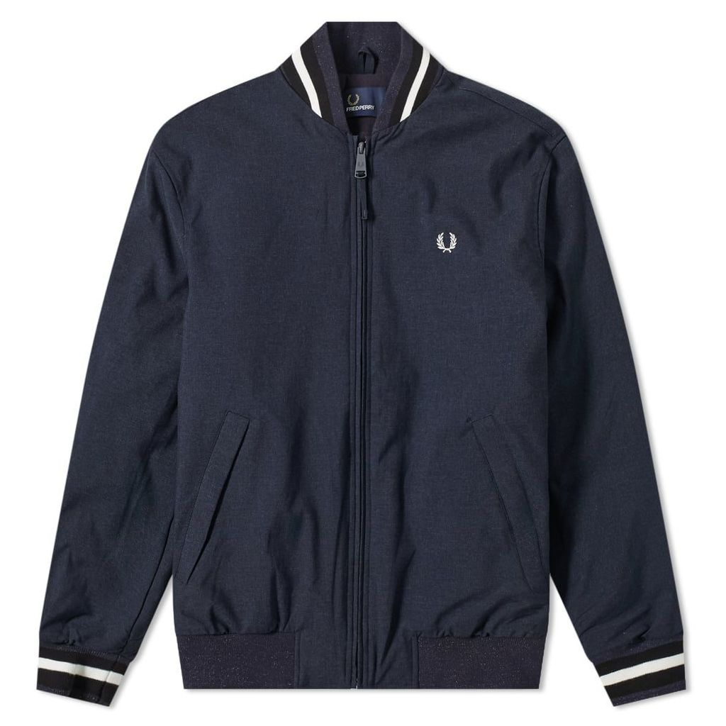Fred Perry Marl Bomber Jacket Navy