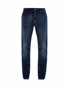 Mens Big & Tall Blue Overdye Tyler Skinny Fit Jeans, blue