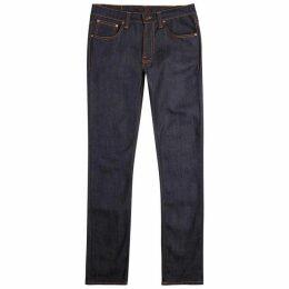 Nudie Jeans Lean Dean Indigo Slim-leg Jeans