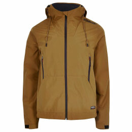 Mens River Island Superdry Yellow lightweight hooded jacket