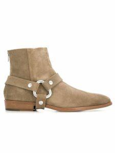 Zadig & Voltaire Romare belt embellished boots - Brown